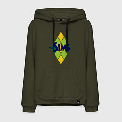 Толстовка-худи хлопковая мужская The Sims цвета хаки — фото 1