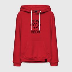 Толстовка-худи хлопковая мужская Heda цвета красный — фото 1