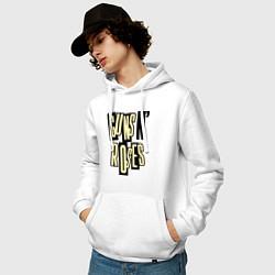 Толстовка-худи хлопковая мужская Guns n Roses: cream цвета белый — фото 2