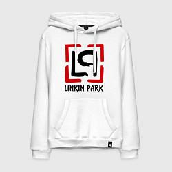 Толстовка-худи хлопковая мужская Linkin park цвета белый — фото 1