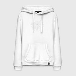 Толстовка-худи хлопковая мужская Ghostemane цвета белый — фото 1
