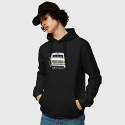 Толстовка-худи хлопковая мужская Жигули 2101 цвета черный — фото 2