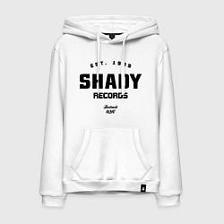 Толстовка-худи хлопковая мужская Shady records цвета белый — фото 1