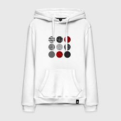 Толстовка-худи хлопковая мужская TOP: Blurryface цвета белый — фото 1