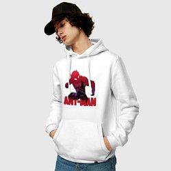 Толстовка-худи хлопковая мужская Ant-man цвета белый — фото 2