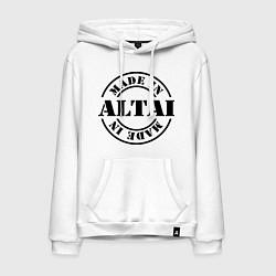 Толстовка-худи хлопковая мужская Made in Altai цвета белый — фото 1