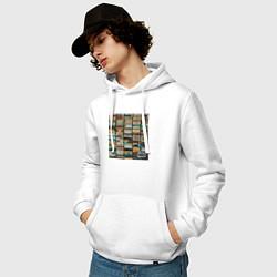 Толстовка-худи хлопковая мужская Скриптонит- 2004 цвета белый — фото 2