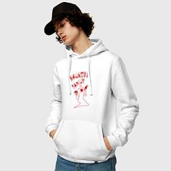 Толстовка-худи хлопковая мужская Kizaru цвета белый — фото 2