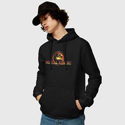 Толстовка-худи хлопковая мужская Mortal Kombat цвета черный — фото 2