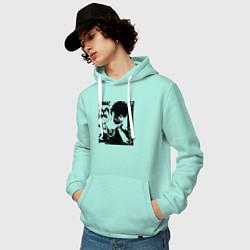 Мужская толстовка с капюшоном с принтом Моя геройская академия, цвет: мятный, артикул: 10276348300010 — фото 2