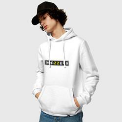 Толстовка-худи хлопковая мужская Brazzers цвета белый — фото 2