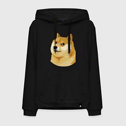 Толстовка-худи хлопковая мужская Doge цвета черный — фото 1