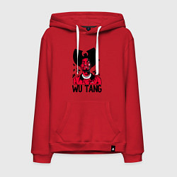 Толстовка-худи хлопковая мужская Wu-Tang Insects цвета красный — фото 1