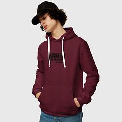 Толстовка-худи хлопковая мужская Armin van Buuren цвета меланж-бордовый — фото 2