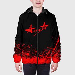 Куртка с капюшоном мужская АлисА на спине цвета 3D-черный — фото 2