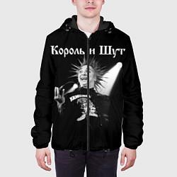 Куртка с капюшоном мужская Король и Шут Анархия спина цвета 3D-черный — фото 2