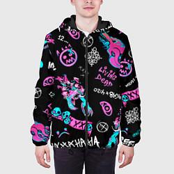 Куртка с капюшоном мужская CS GO цвета 3D-черный — фото 2