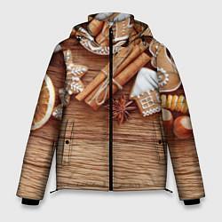 Куртка зимняя мужская Коричные пряники цвета 3D-черный — фото 1