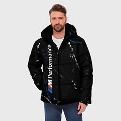 Куртка зимняя мужская BMW БМВ цвета 3D-черный — фото 2