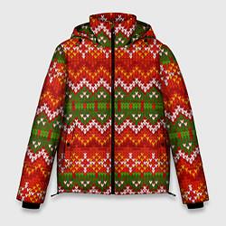 Куртка зимняя мужская Зимний узор цвета 3D-черный — фото 1