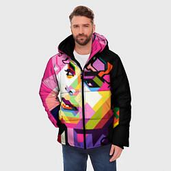Куртка зимняя мужская Michael Jackson Art цвета 3D-черный — фото 2