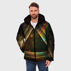Куртка зимняя мужская Pink Phloyd: Triangle цвета 3D-черный — фото 2
