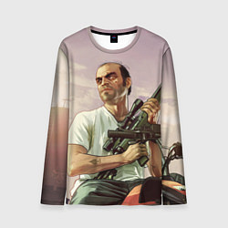 Лонгслив мужской GTA 5: Trevor with a gun цвета 3D — фото 1