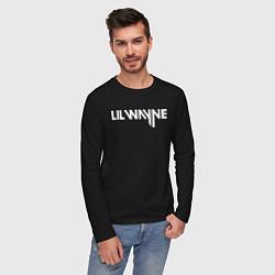 Лонгслив хлопковый мужской Lil Wayne цвета черный — фото 2