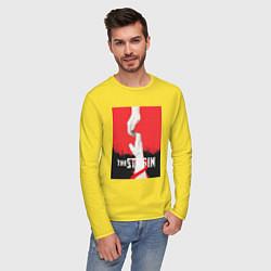 Лонгслив хлопковый мужской The Strain: Hands цвета желтый — фото 2