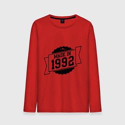 Лонгслив хлопковый мужской Made in 1992 цвета красный — фото 1