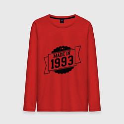 Лонгслив хлопковый мужской Made in 1993 цвета красный — фото 1