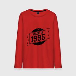Лонгслив хлопковый мужской Made in 1995 цвета красный — фото 1