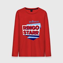 Лонгслив хлопковый мужской Ringo Starr: The Beatles цвета красный — фото 1