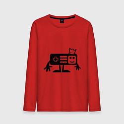 Лонгслив хлопковый мужской Игроман цвета красный — фото 1