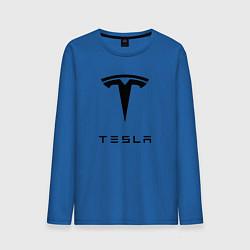 Лонгслив хлопковый мужской TESLA Mobile цвета синий — фото 1