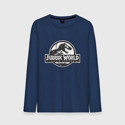 Лонгслив хлопковый мужской Jurassic World цвета тёмно-синий — фото 1