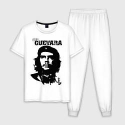 Пижама хлопковая мужская Che Guevara цвета белый — фото 1