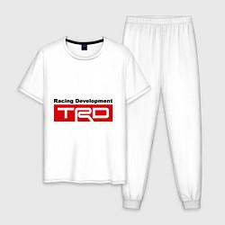 Пижама хлопковая мужская TRD цвета белый — фото 1