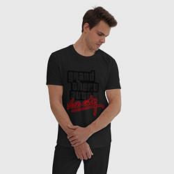 Пижама хлопковая мужская GTA Vice City цвета черный — фото 2