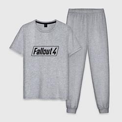 Пижама хлопковая мужская Fallout 4 цвета меланж — фото 1