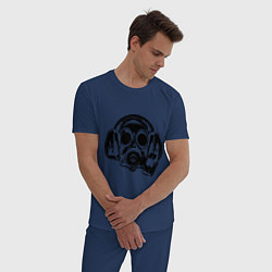 Пижама хлопковая мужская Toxic DJ цвета тёмно-синий — фото 2