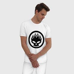 Пижама хлопковая мужская The Offspring: Sybmol цвета белый — фото 2