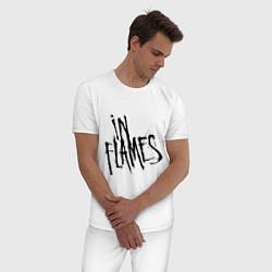 Пижама хлопковая мужская In Flames цвета белый — фото 2