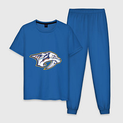Пижама хлопковая мужская Nashville Predators цвета синий — фото 1