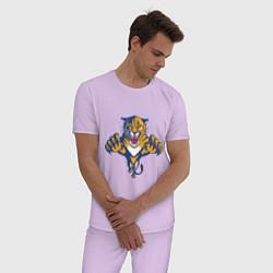 Пижама хлопковая мужская Florida Panthers цвета лаванда — фото 2