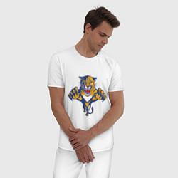 Пижама хлопковая мужская Florida Panthers цвета белый — фото 2