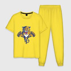 Пижама хлопковая мужская Florida Panthers цвета желтый — фото 1
