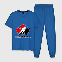 Пижама хлопковая мужская Canada цвета синий — фото 1