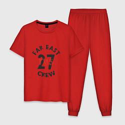 Пижама хлопковая мужская Far East 27 Crew цвета красный — фото 1