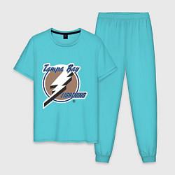 Пижама хлопковая мужская Tampa Bay цвета бирюзовый — фото 1